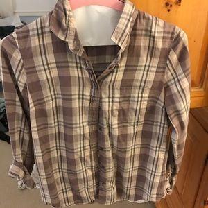 Jcrew plaid shirt size 4